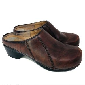 Dansko Brown clogs slides brown leather 37/6-6.5